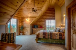 Log Home By Golden Eagle Log Homes - loft bedroom 1