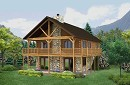 Boundary Waters 1120AR - Log Home Floor Plan