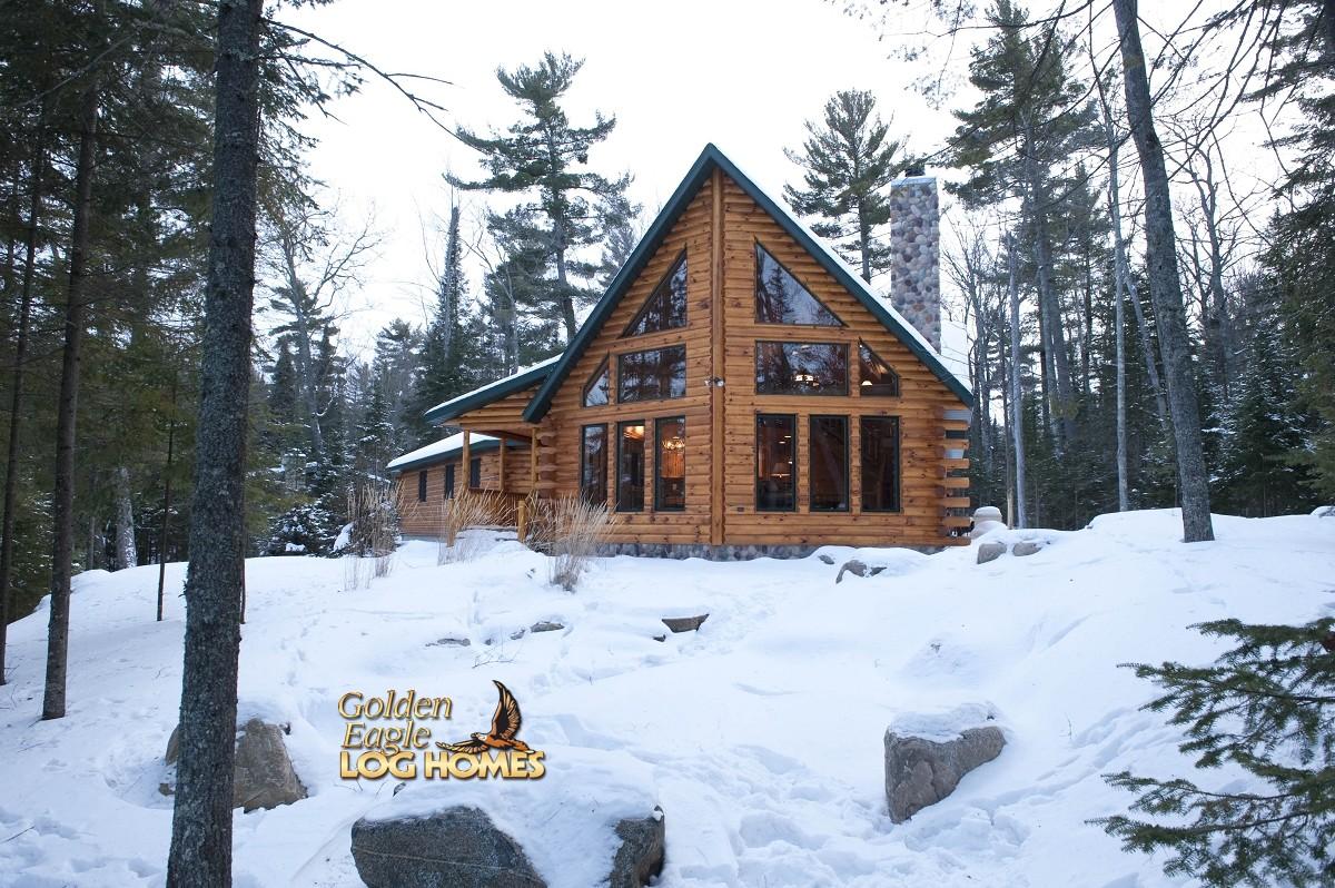 golden eagle log  timber homes log home cabin pictures  modified northern eagle al