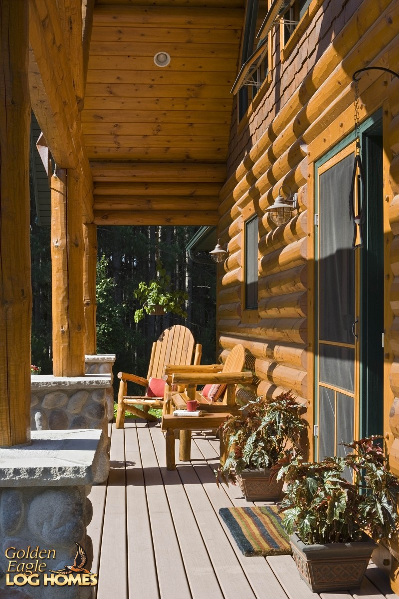 Golden Eagle Log And Timber Homes Log Home Cabin Pictures Photos Custom Eagle Prow 4