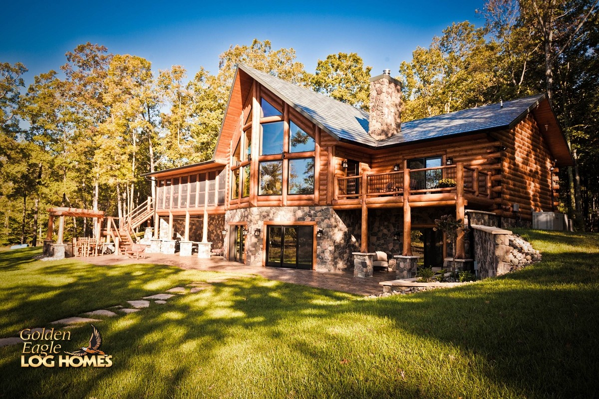 Lake house plans walkout basement 14 photo gallery house plans 22612 Log home design ideas planning guide