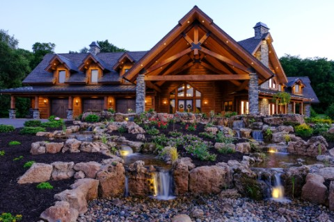 Ultra Custom Timber Home on a Private Airstrip Log Homes Photo Album
